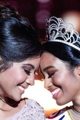 Clémence Botino et Vaimalama Chaves au soir du concours de Miss France 2020