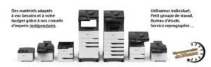 Des imprimantes et photocopieurs à votre service.